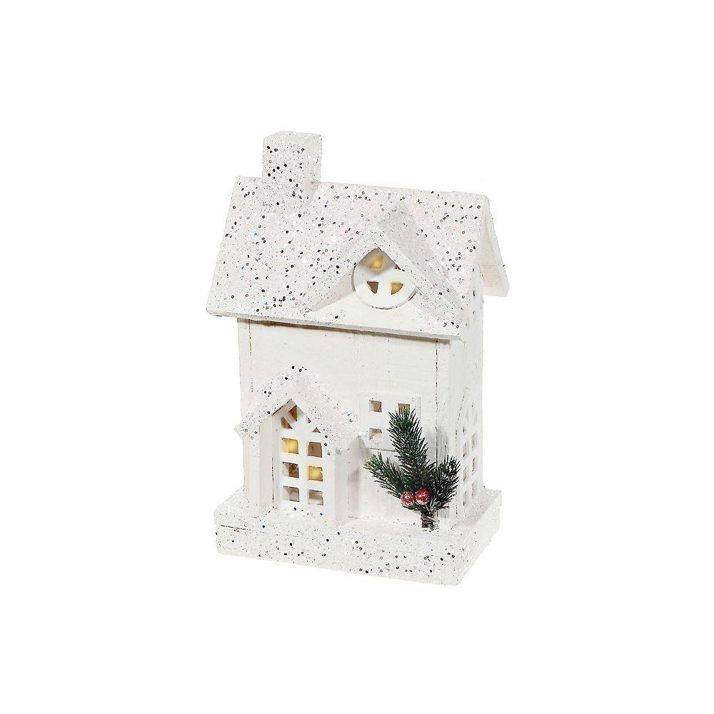 IH Casa Decor snow-covered Led White Wood 3D House