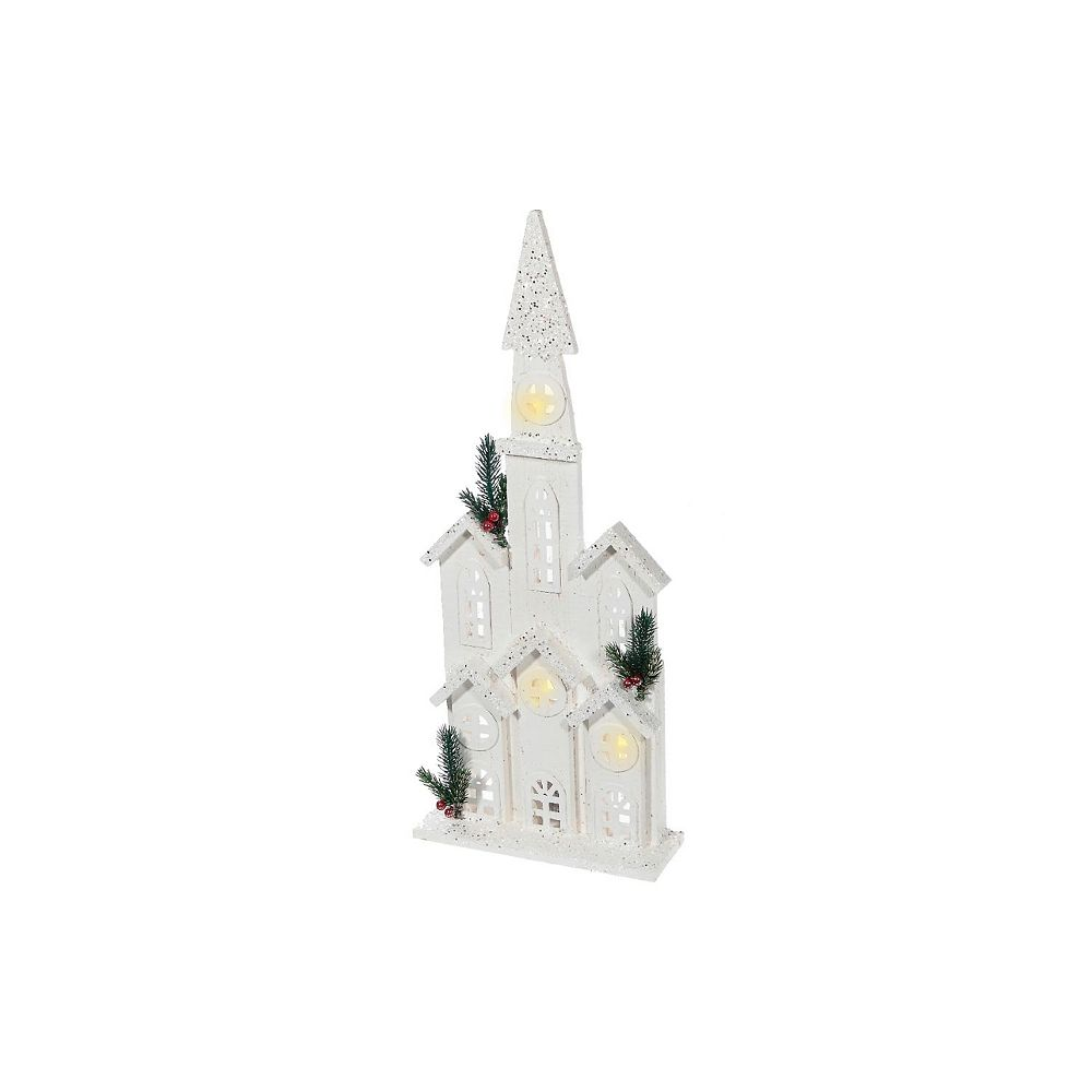 IH Casa Decor snow-covered Led White Wood 2D Cathedral