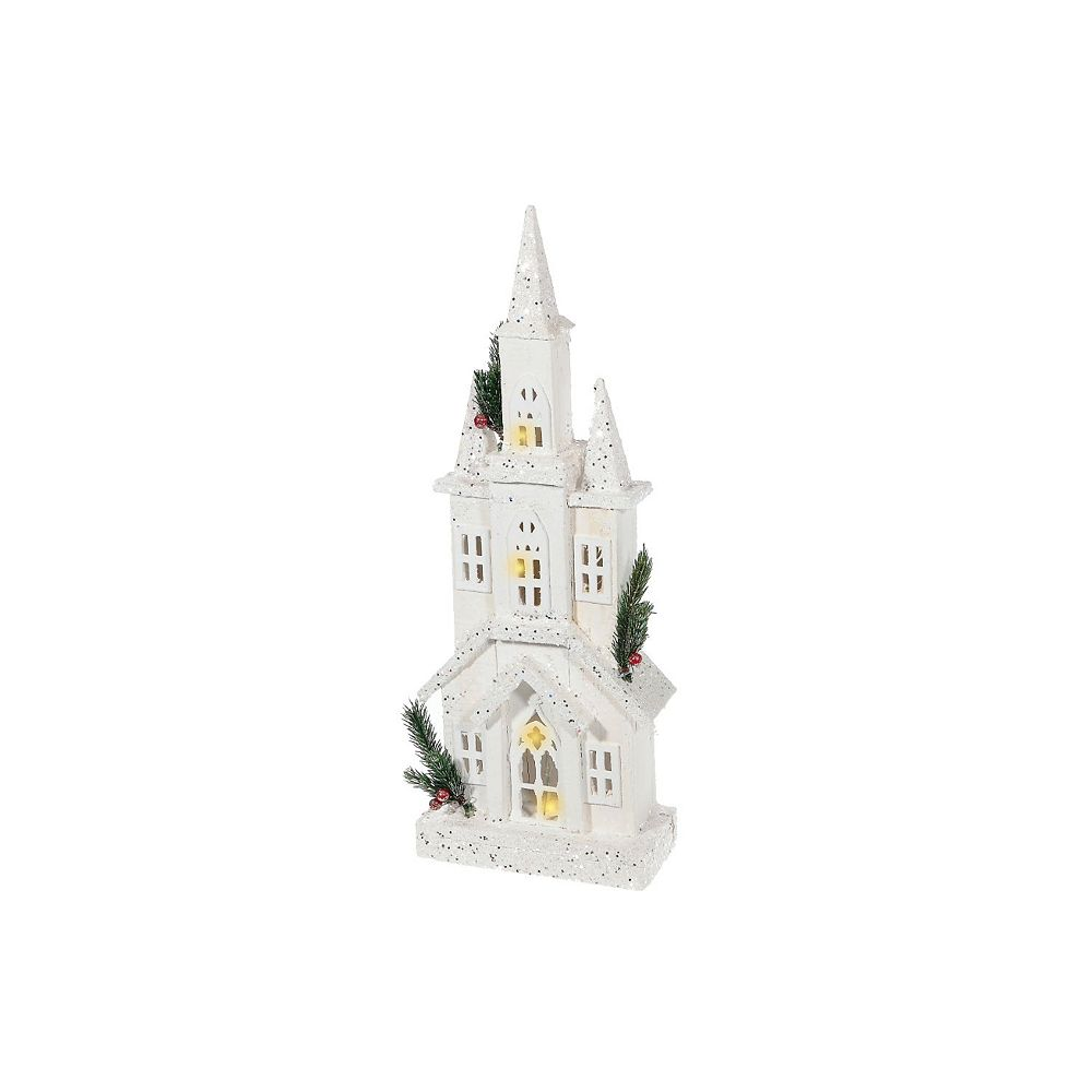 IH Casa Decor snow-covered Led White Wood 3D Cathedral