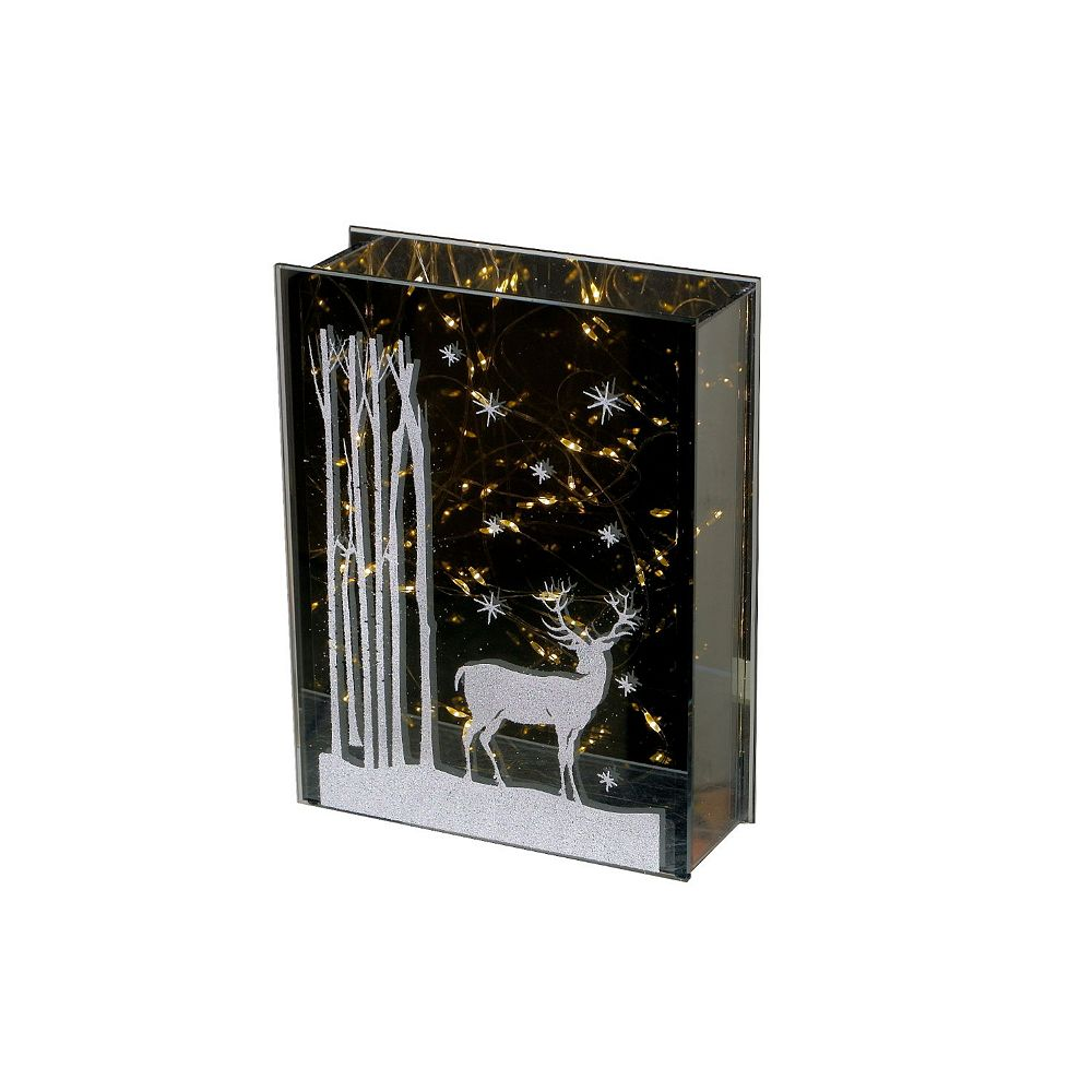 IH Casa Decor Led Glass With Reindeer Print (Portriat)