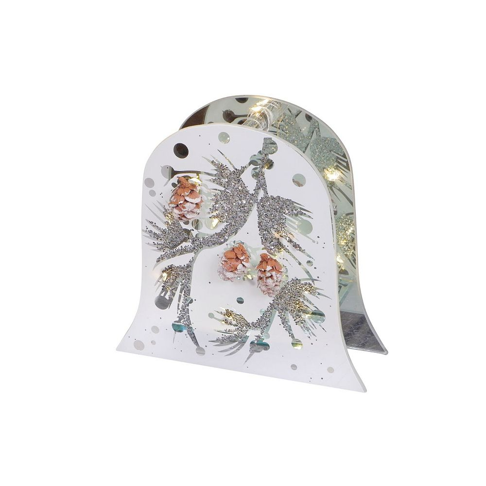 IH Casa Decor Led Frosted Glass With Pinecone Print (Bell)