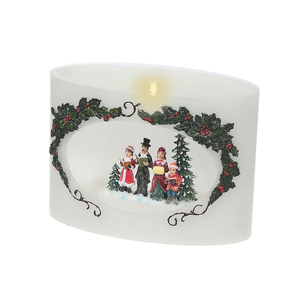 IH Casa Decor Hollow Wax Candle With Led Carolers