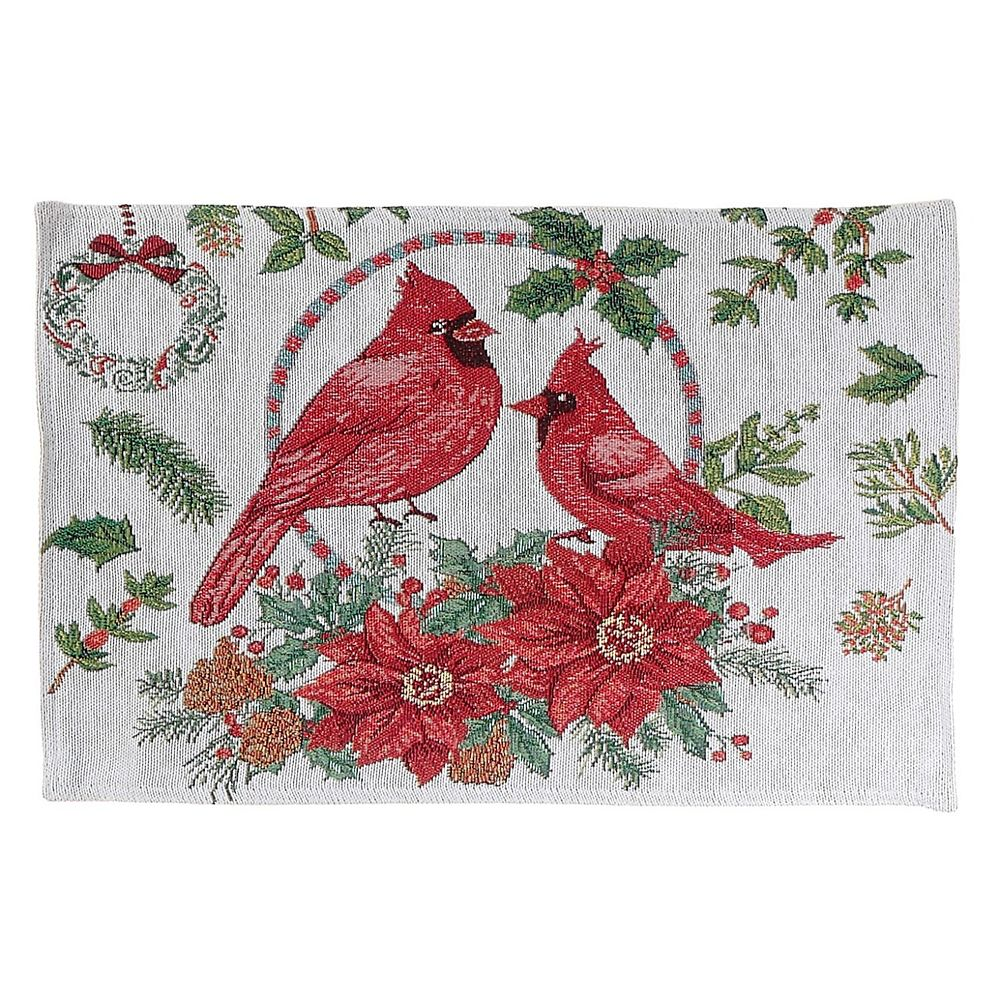 IH Casa Decor Tapestry Placemat (Double Cardinal Wreath)