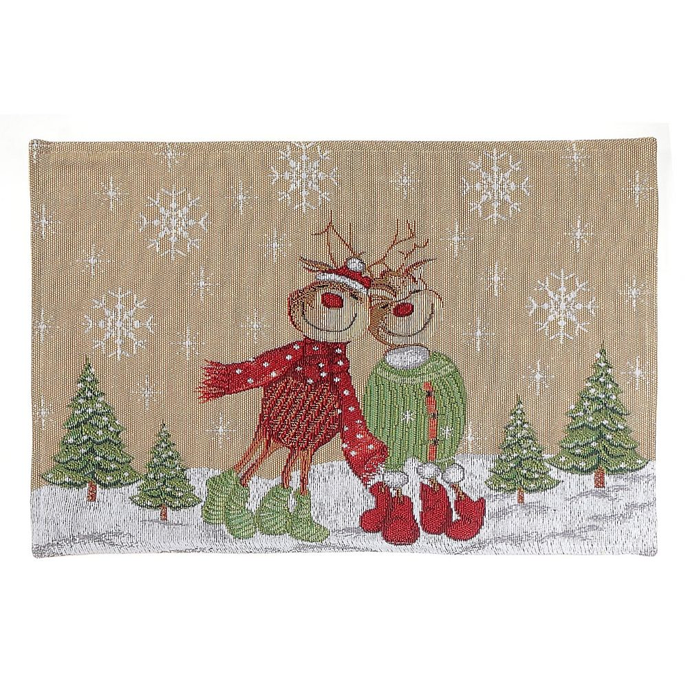 IH Casa Decor Tapestry Placemat (Joyful Reindeer)