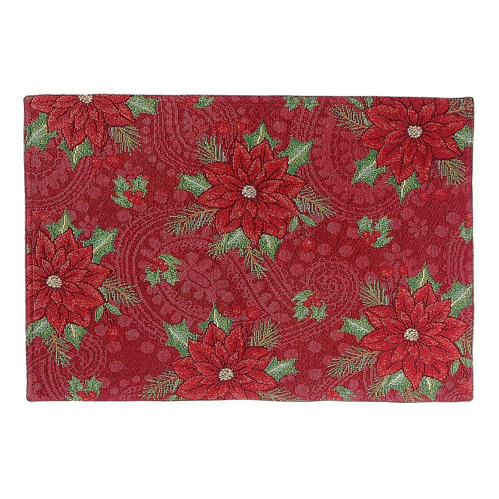IH Casa Decor Tapestry Placemat (Poinsettia Print)