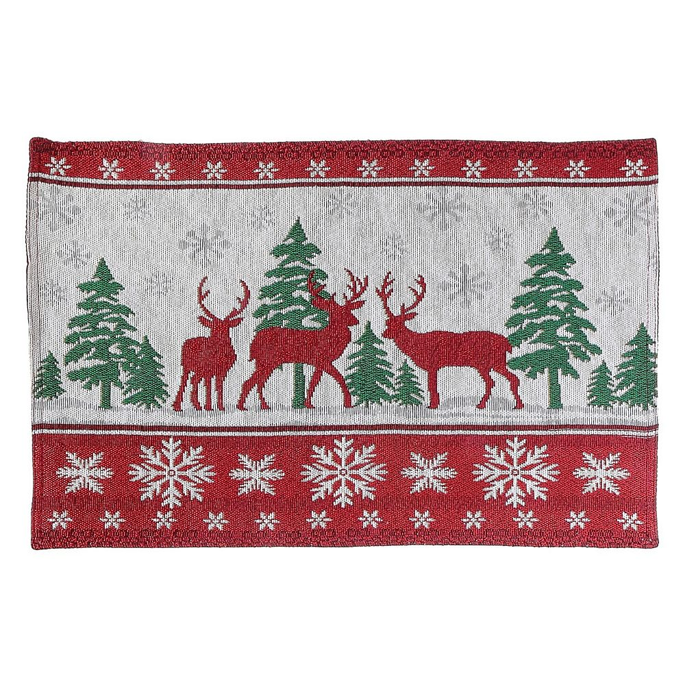 IH Casa Decor Tapestry Placemat (reindeer In Forest)