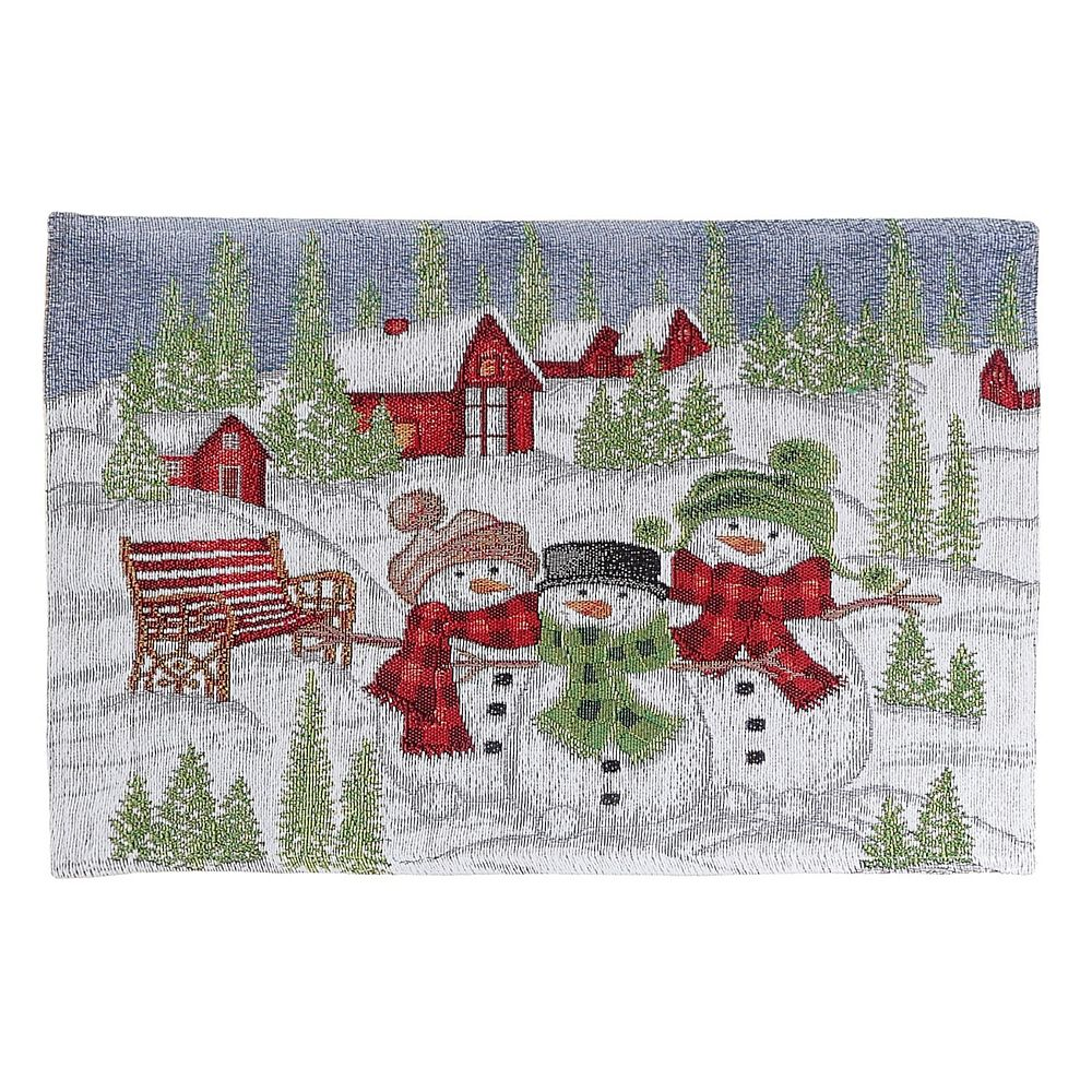 IH Casa Decor Tapestry Placemat (Snowman Village)
