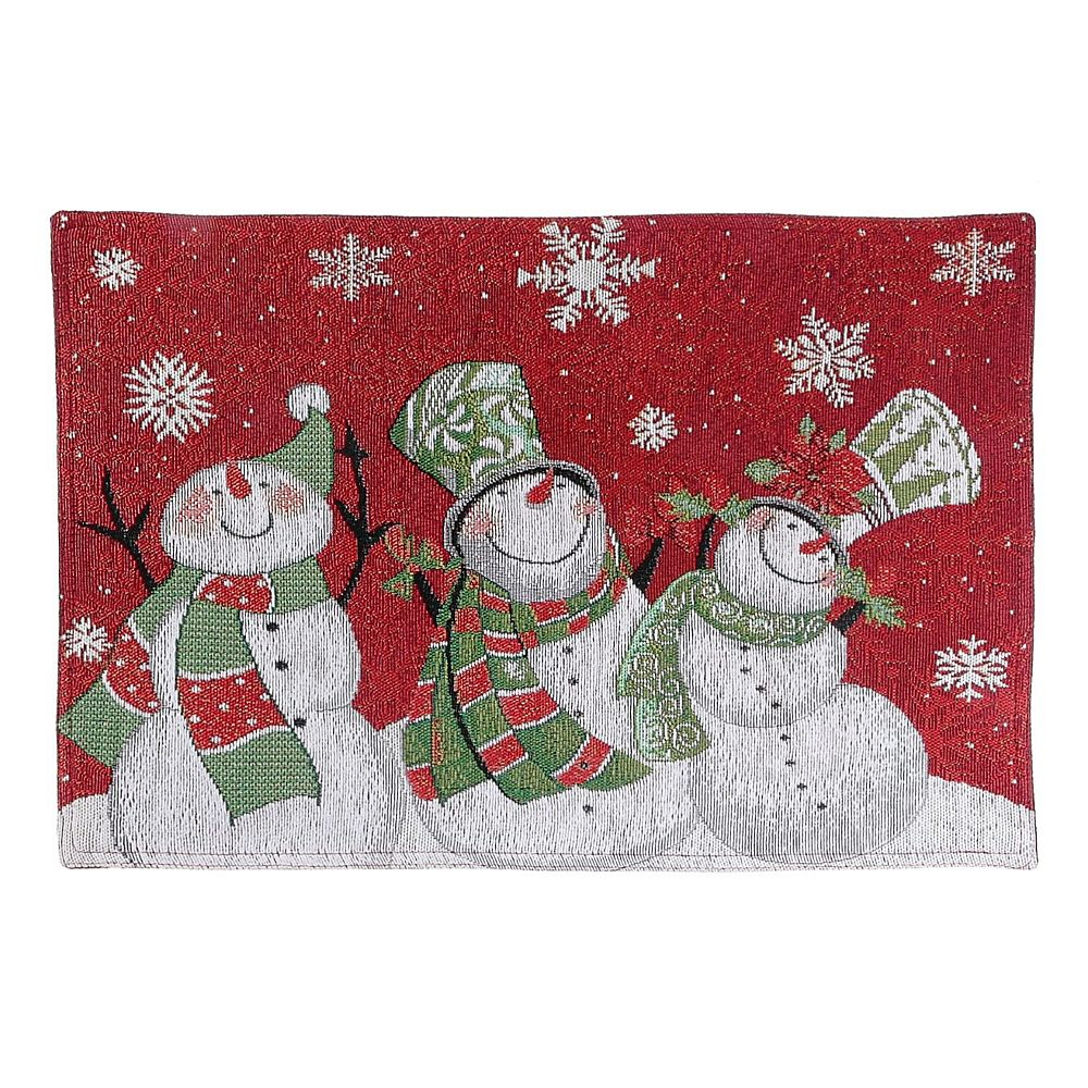 IH Casa Decor Tapestry Placemat (Triple Smiling Snowman)