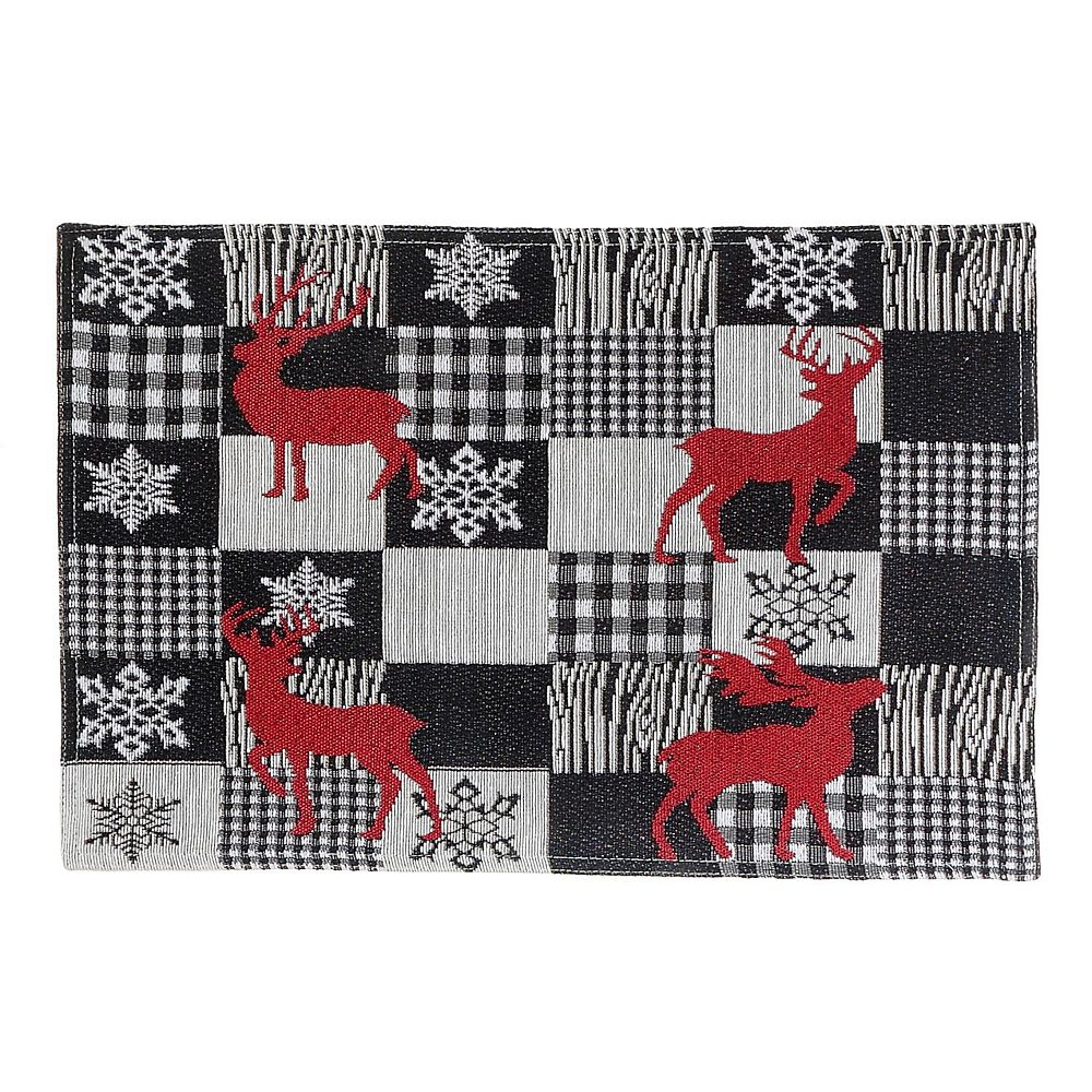 IH Casa Decor Tapestry Placemat (White Buffalo Reindeer)