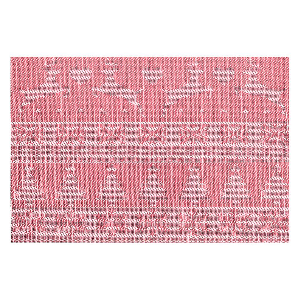 IH Casa Decor Vinyl Placemat (Reindeer And Tree) (Red)