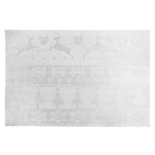 Vinyl Placemat (Reindeer And Tree) (Silver)