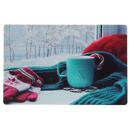Plastic Placemat (Cozy Teal Mug)