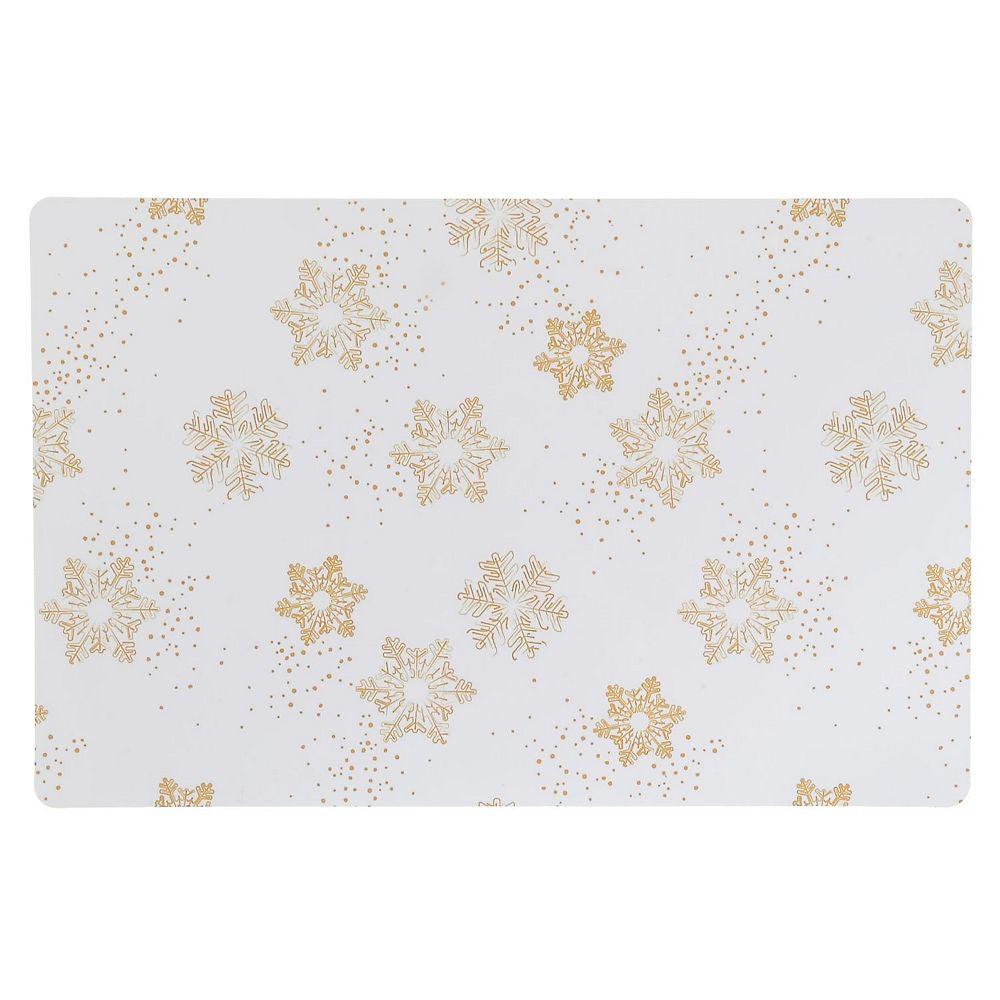 IH Casa Decor Plastic Placemat (Gold Snowflakes)