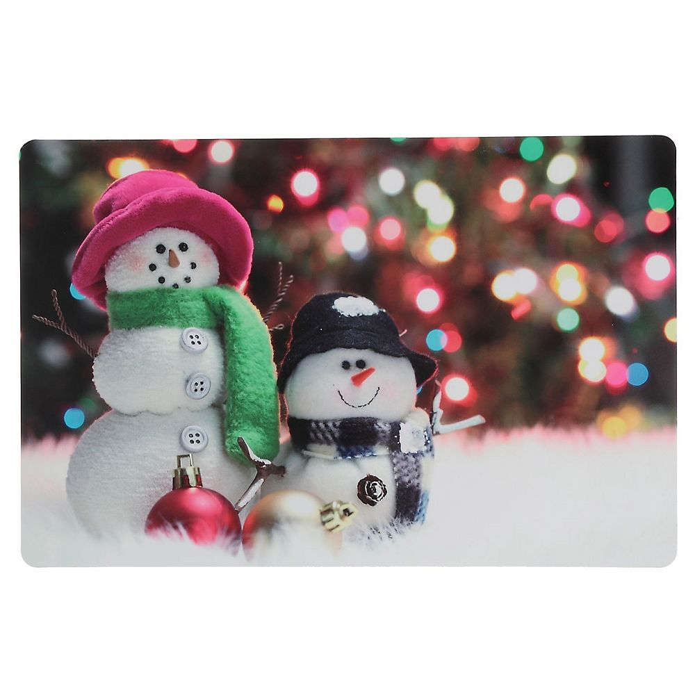 IH Casa Decor Plastic Placemat (Snowman Ornaments)