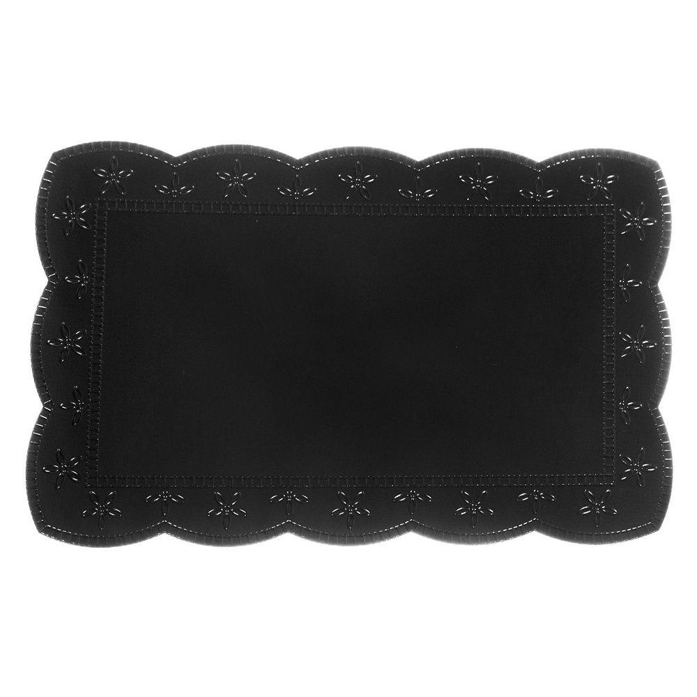 IH Casa Decor Plastic Placemat With Border (Black)