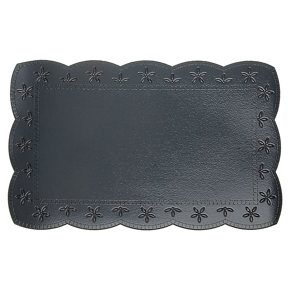 IH Casa Decor Plastic Placemat With Border (Cool Gray)