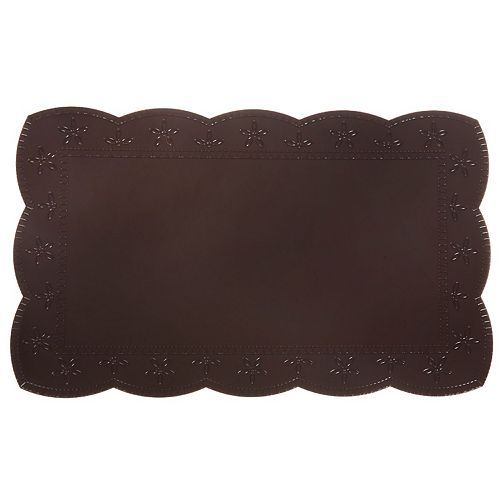 Plastic Placemat With Border (Chocolate)