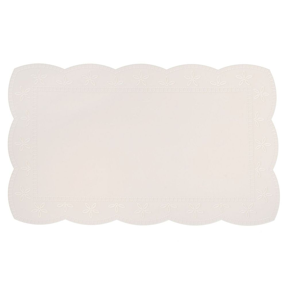 IH Casa Decor Plastic Placemat With Border (White)