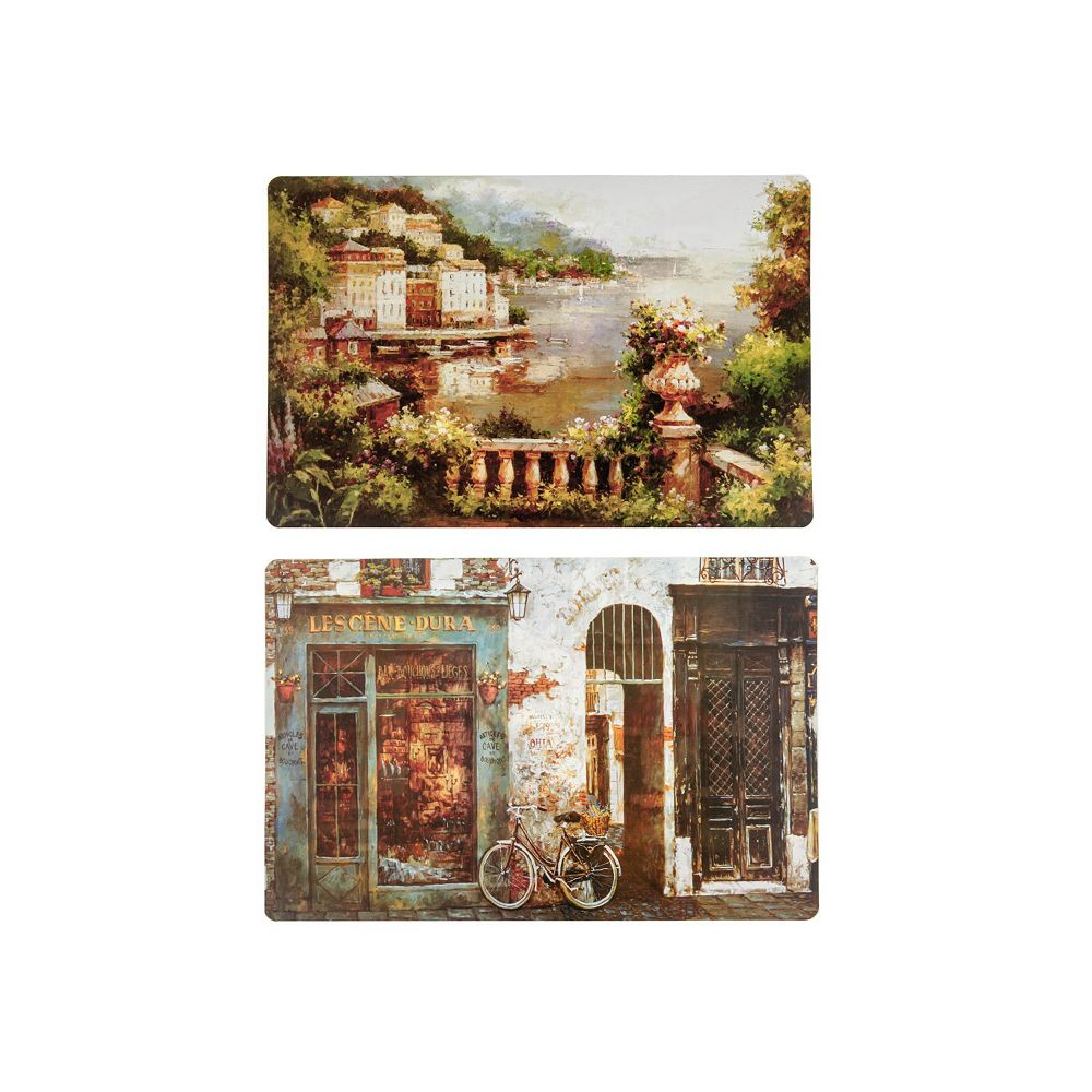 IH Casa Decor Pp Reversible Placemat (Scenic Paintings)