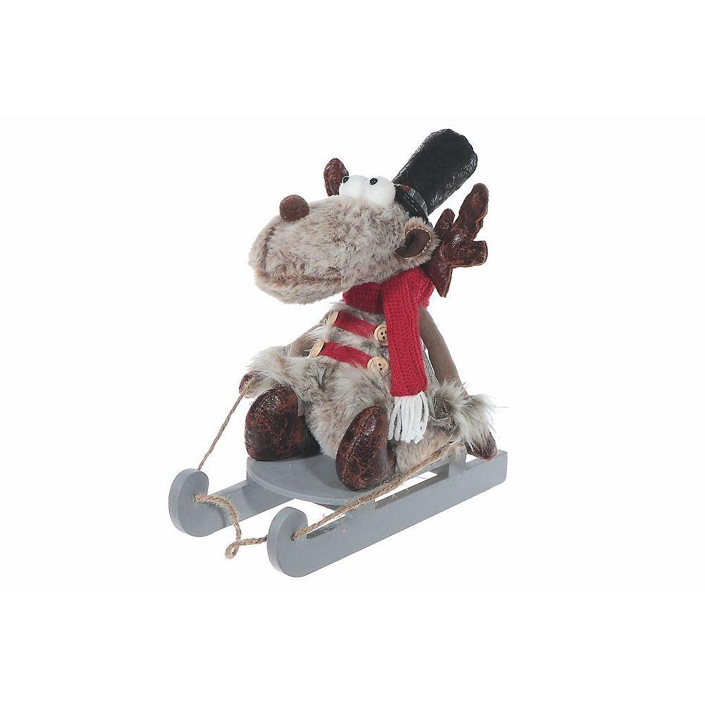 IH Casa Decor Prancer The Reindeer Plush On Sled