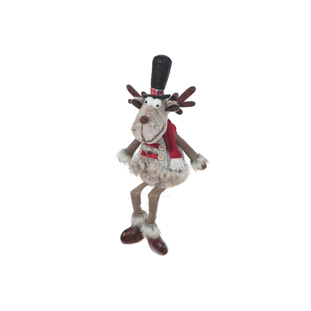 IH Casa Decor Prancer The Reindeer Plush Shelf Sitter