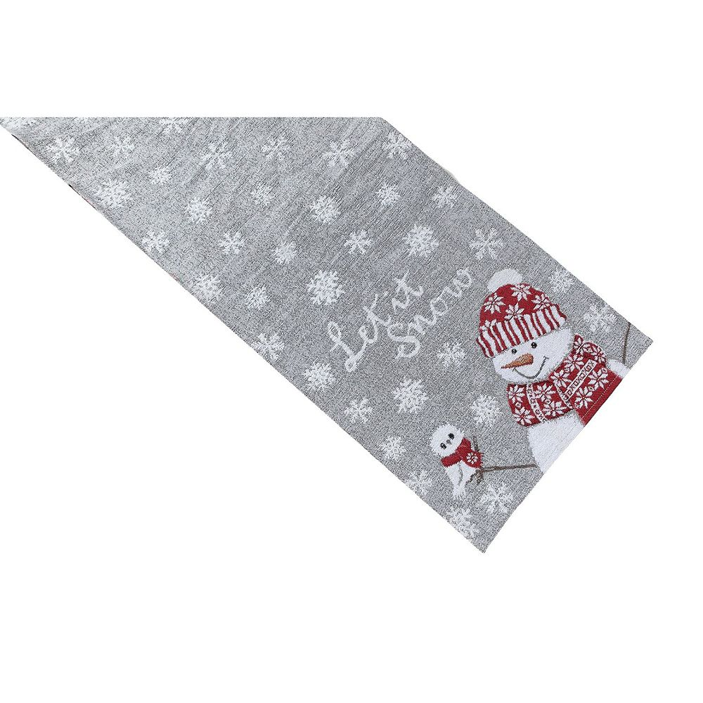 IH Casa Decor Tapestry Table Runner (Square End) (Let It Snow)
