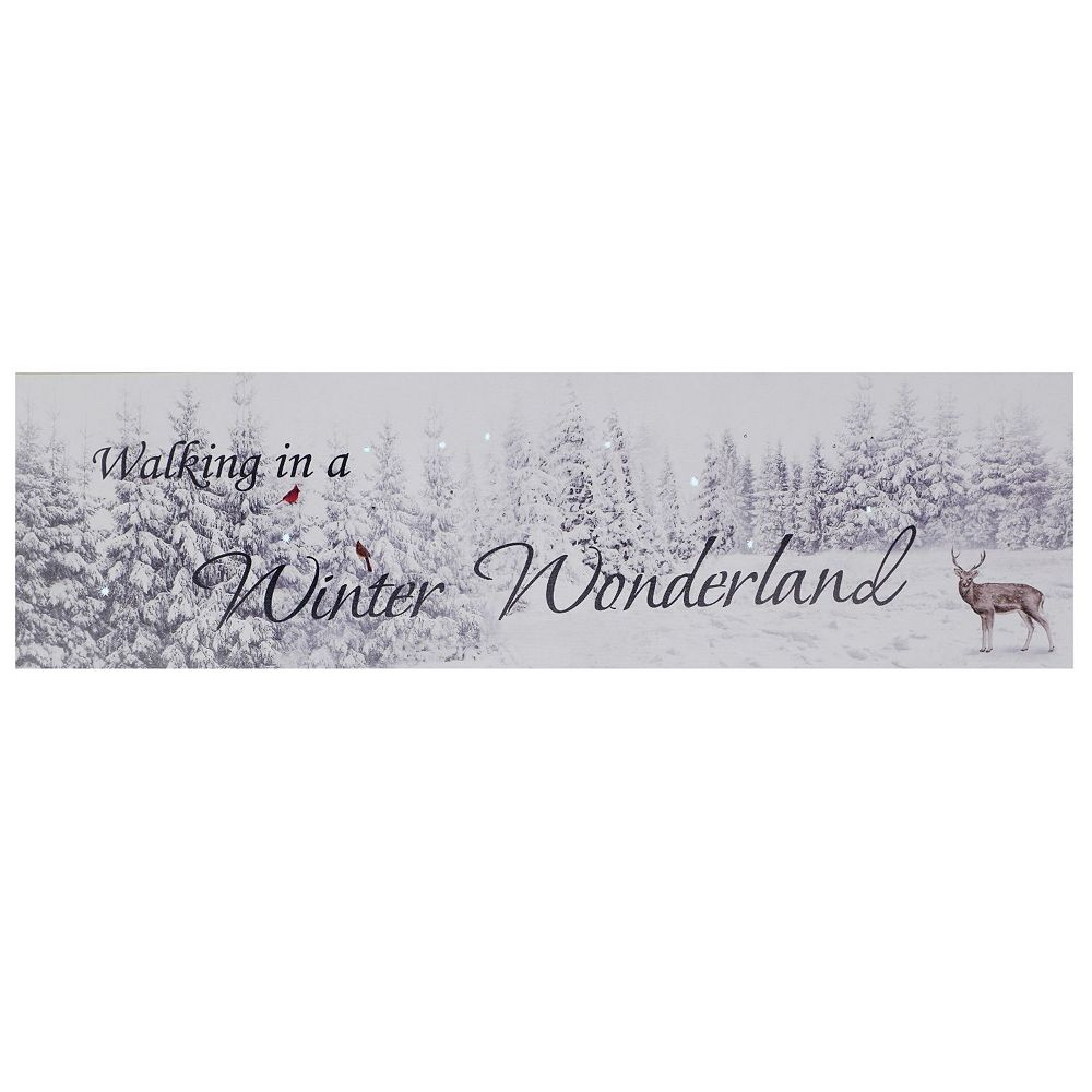 IH Casa Decor fiber Optic Led Canvas Wall Art (Winter Wonderland)