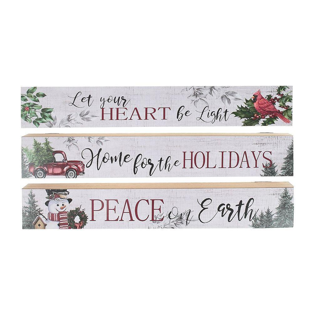 IH Casa Decor Wood Plaque (Holiday Greetings) (Asstd)