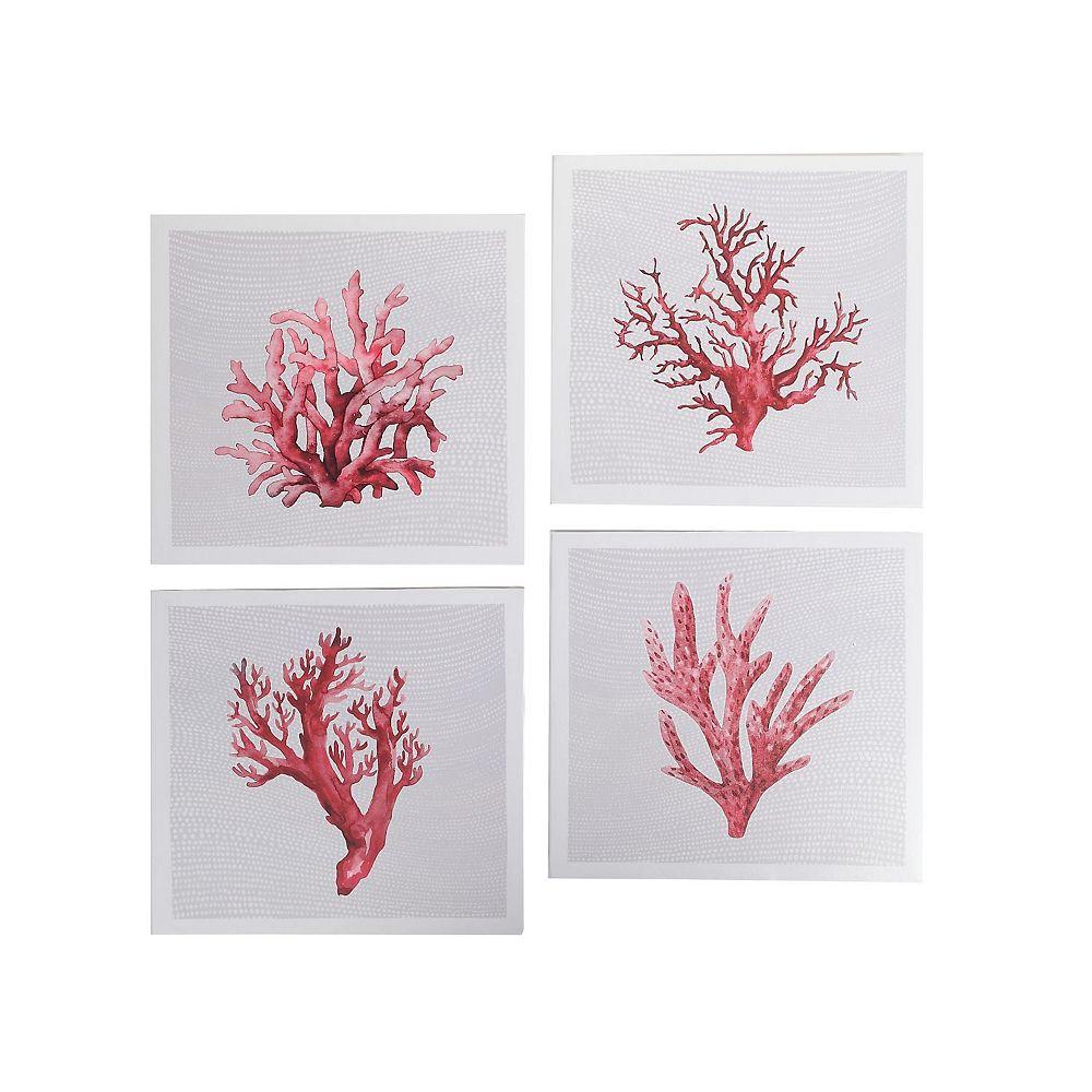 IH Casa Decor Canvas Wall Art (Red Coral) (Asstd)