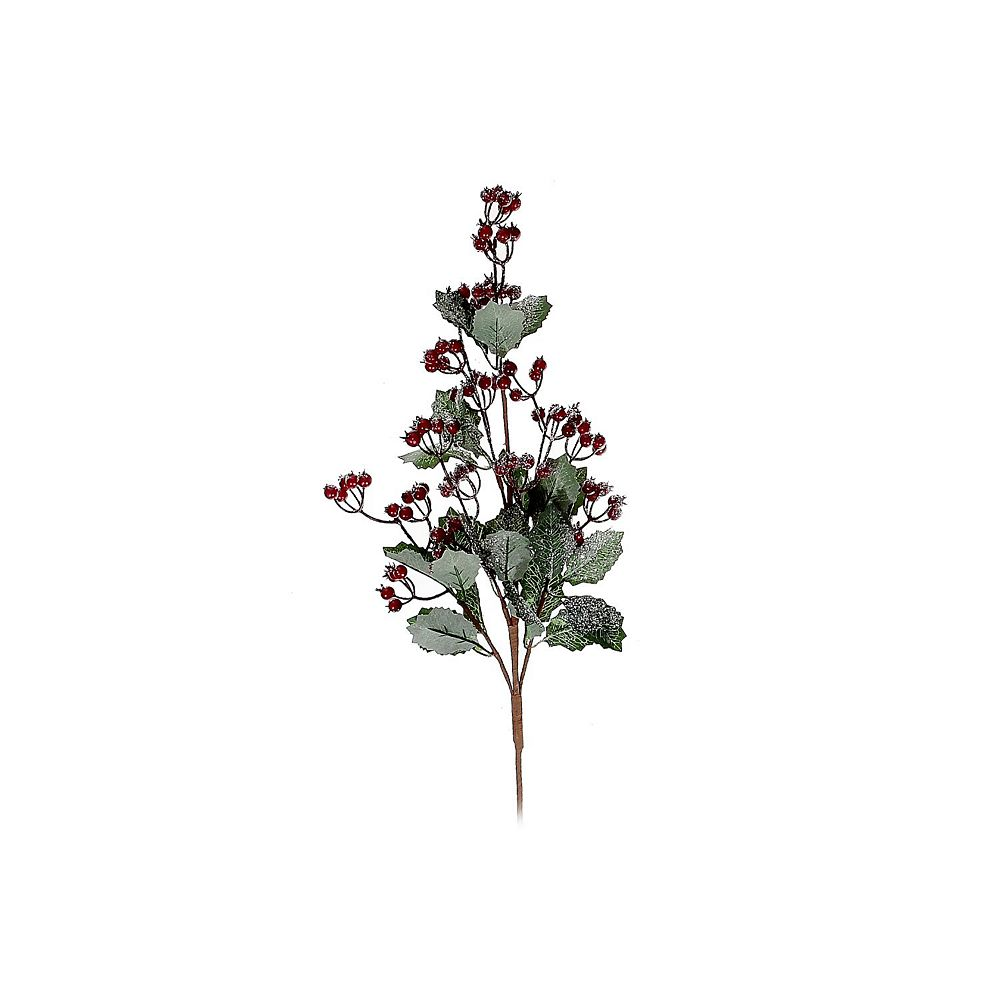IH Casa Decor Frosted Red Berry Spray