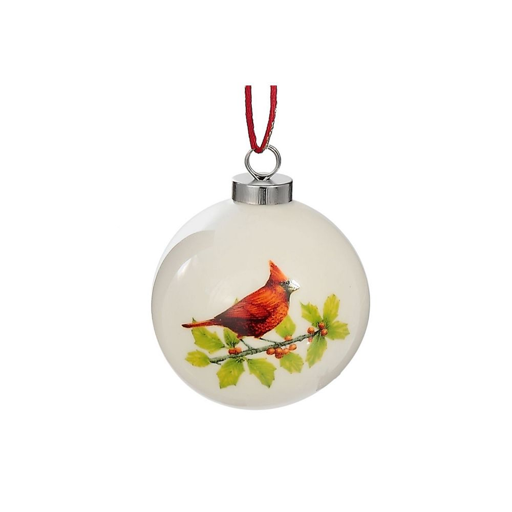 IH Casa Decor Ceramic Ball Ornament (Cardinal)