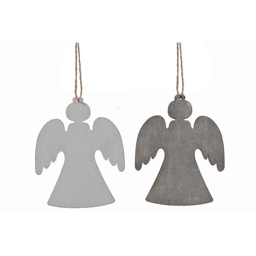 IH Casa Decor Wooden Hanging Flat Angel Ornament (Asstd)