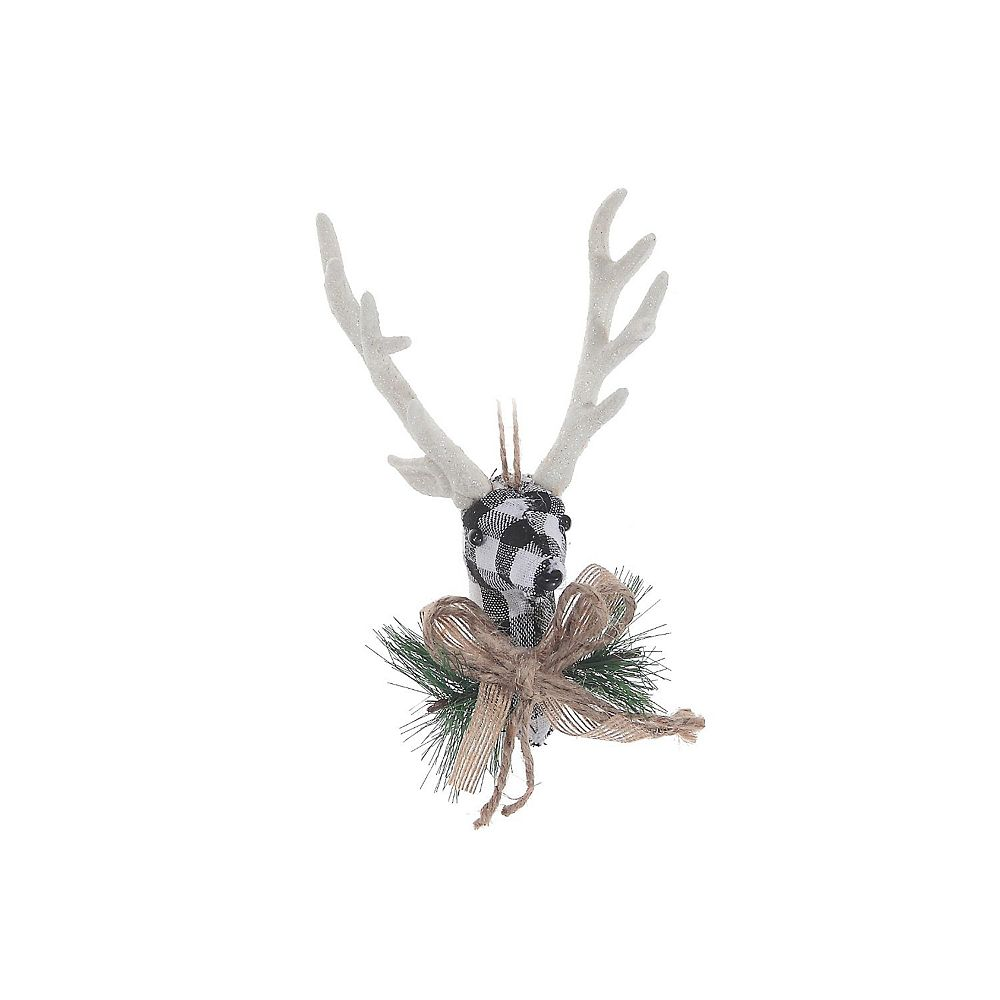 IH Casa Decor White Buffalo Ornament (Reindeer Head)