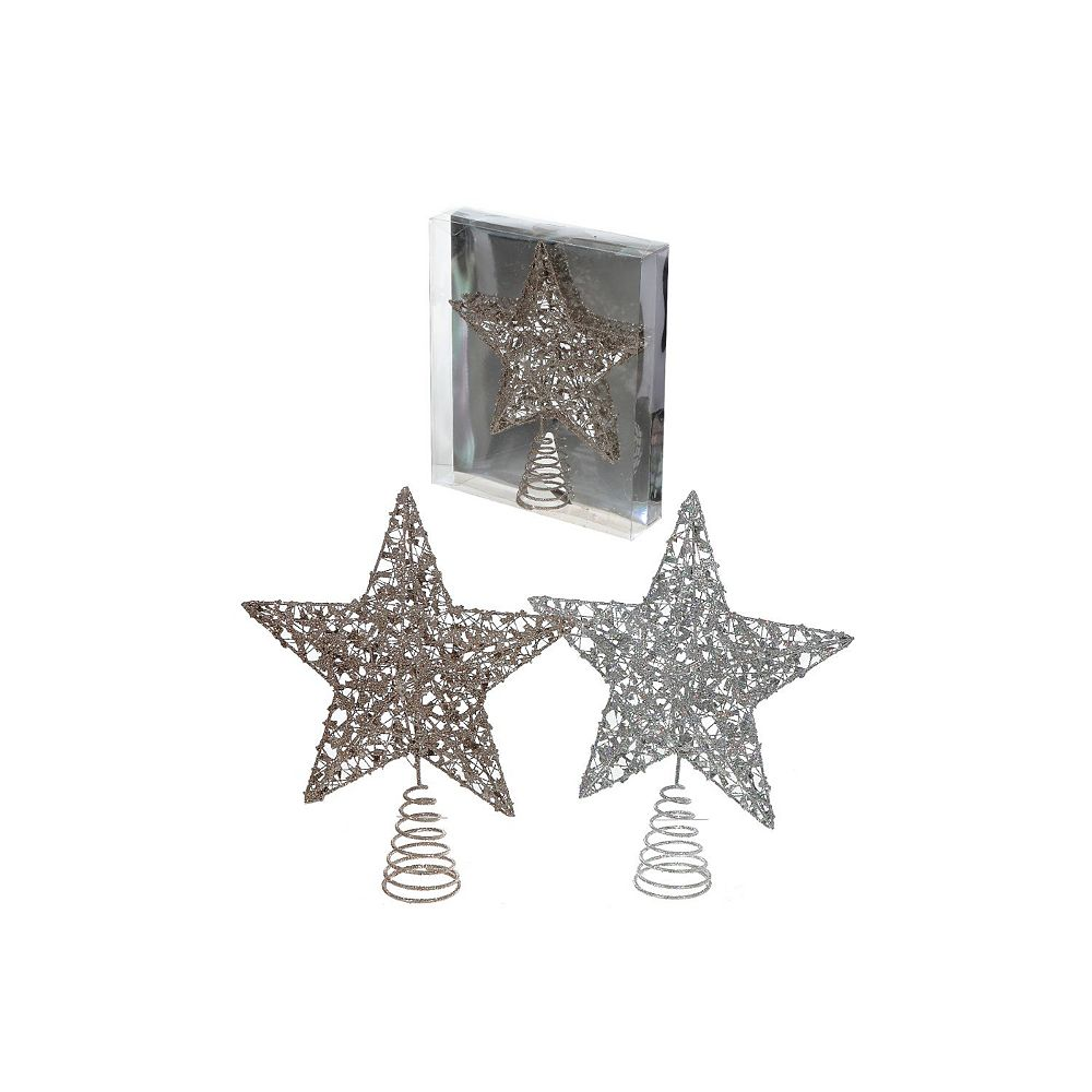 IH Casa Decor Glitter Star Tree Topper (Asstd)