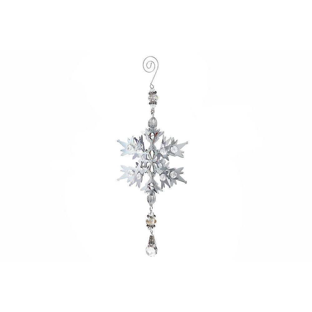 IH Casa Decor 3D Silver Metal Ornament (Snowflake)