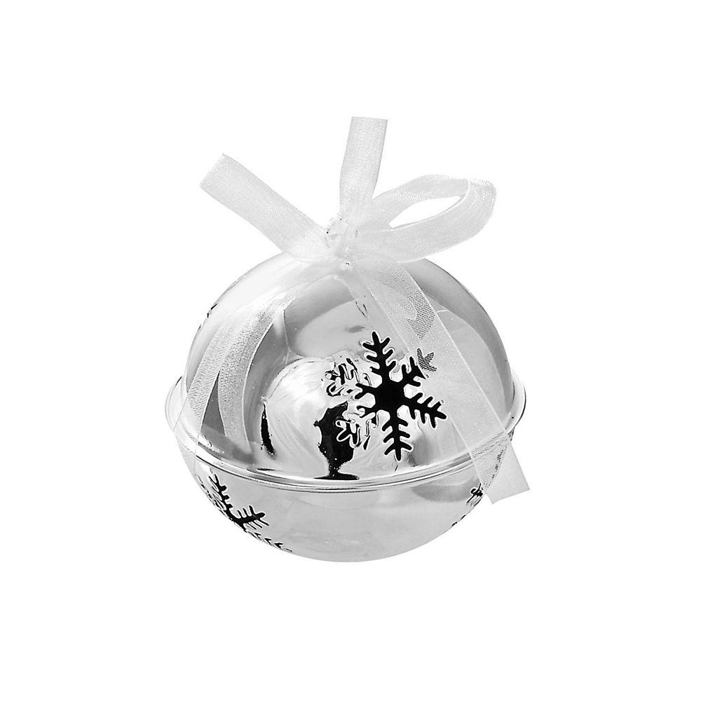IH Casa Decor Snowflake Cut Out Metal Jingle Bell Ornament