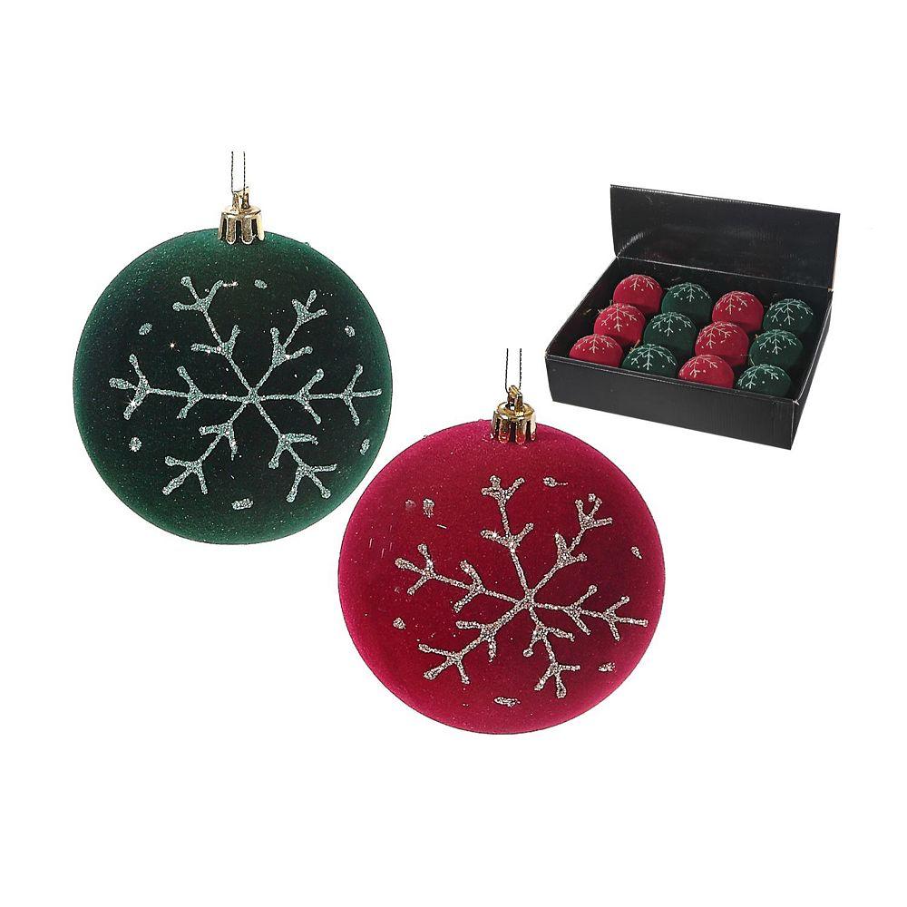 IH Casa Decor Foam Velvet Snowflake Ornament (Asstd)