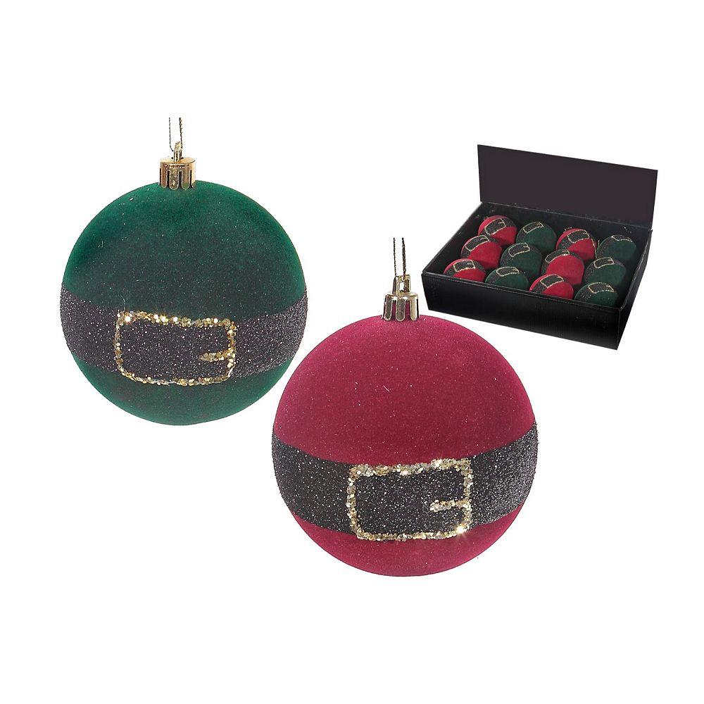 IH Casa Decor Foam Velvet Santa/Elf Belt Ornament (Asstd)