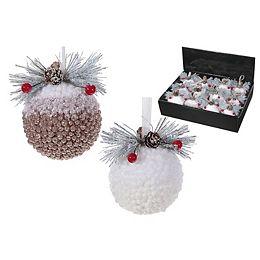 snow-covered Foam Ball Ornament (Asstd)