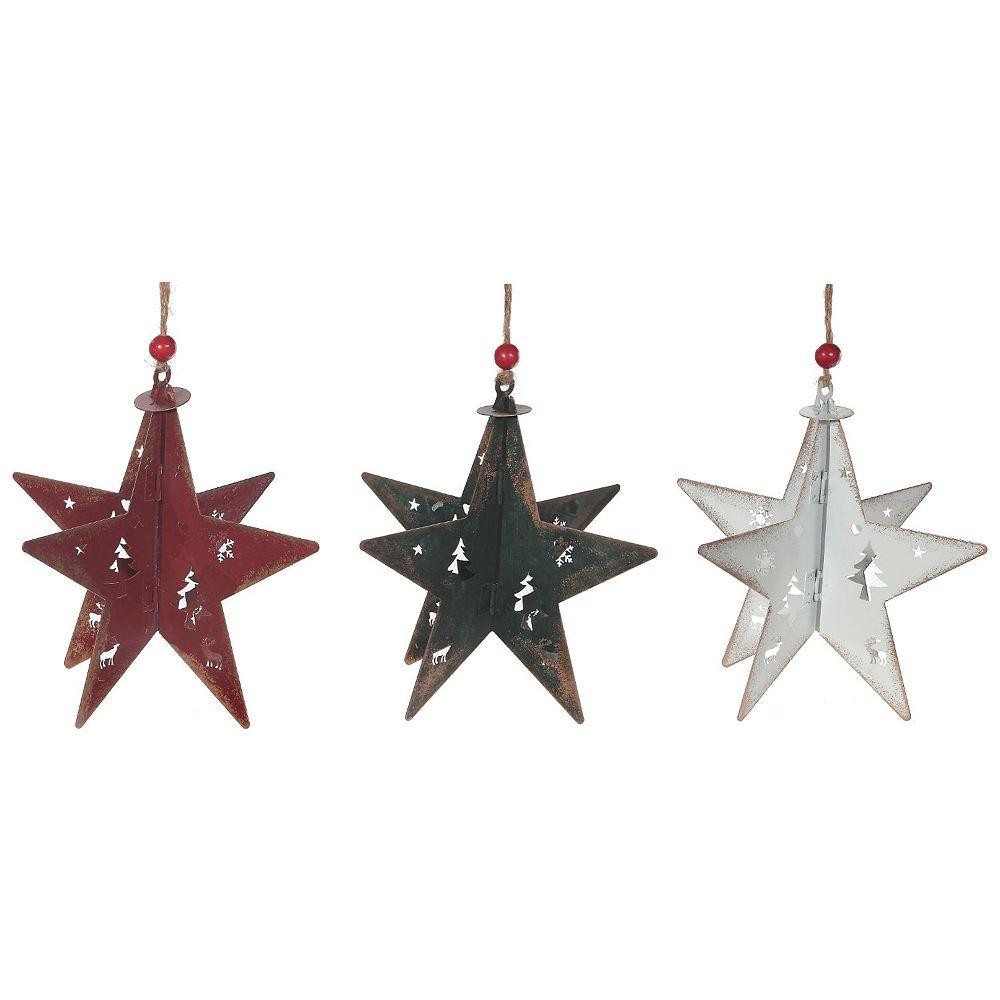 IH Casa Decor Antique Metal 3D Snowflake Ornament (Asstd)