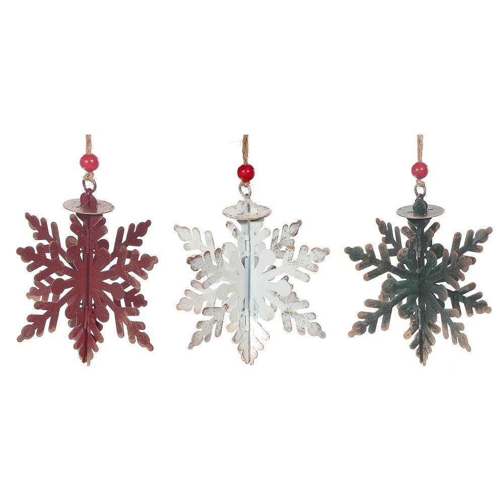 IH Casa Decor Antique Metal 3D Star Cut Out Ornament (Asstd)