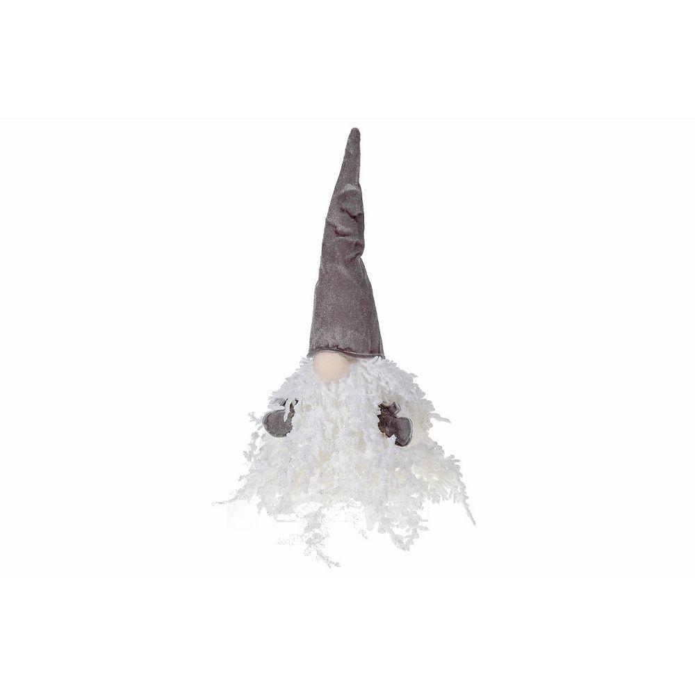 IH Casa Decor White Glitter Tree Gray Gnome (Small)