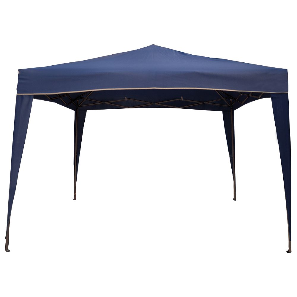 Northlight 10' x 10' Navy Blue Pop-Up Outdoor Canopy Gazebo