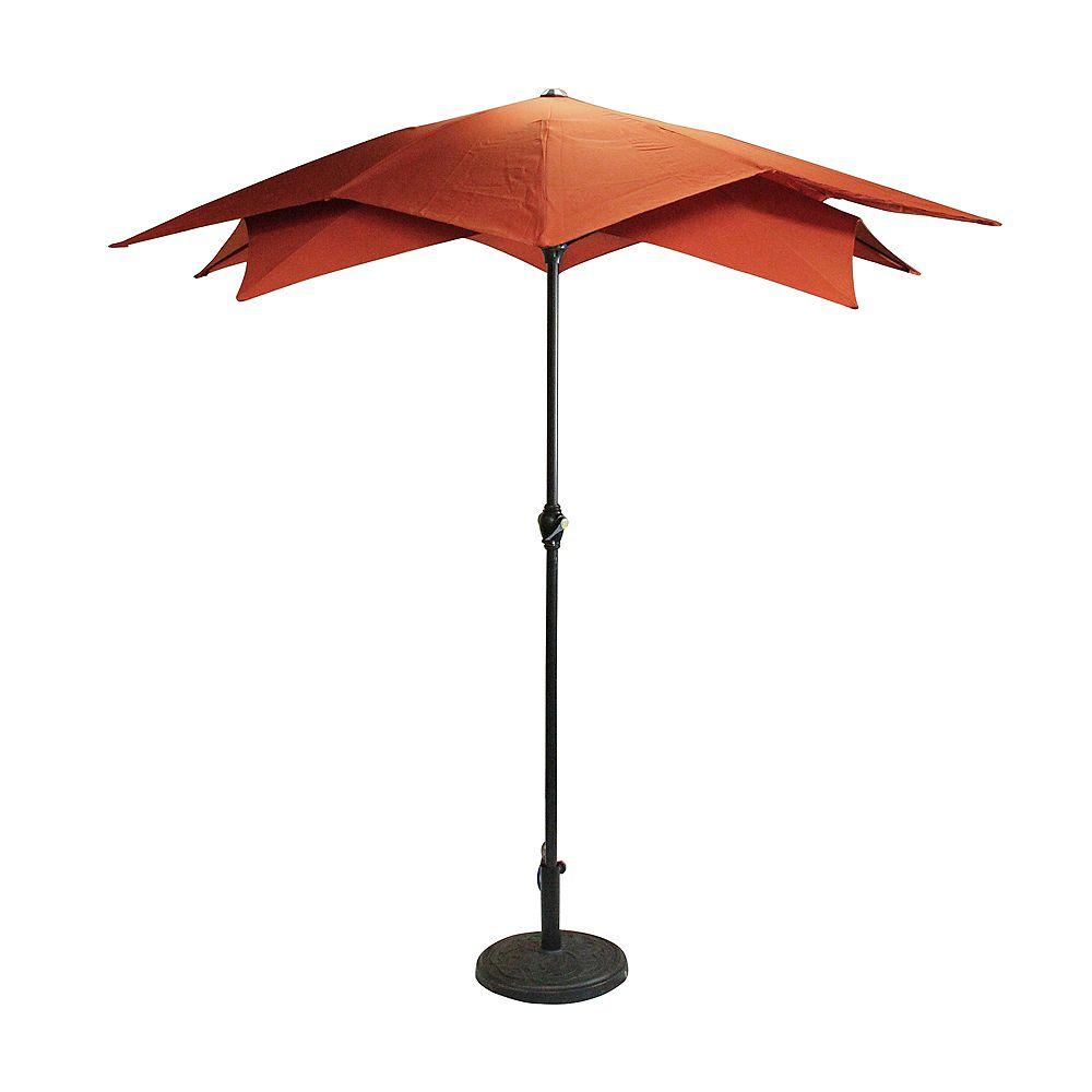 Northlight 8.85ft Outdoor Patio Lotus Umbrella with Hand Crank  Terracotta