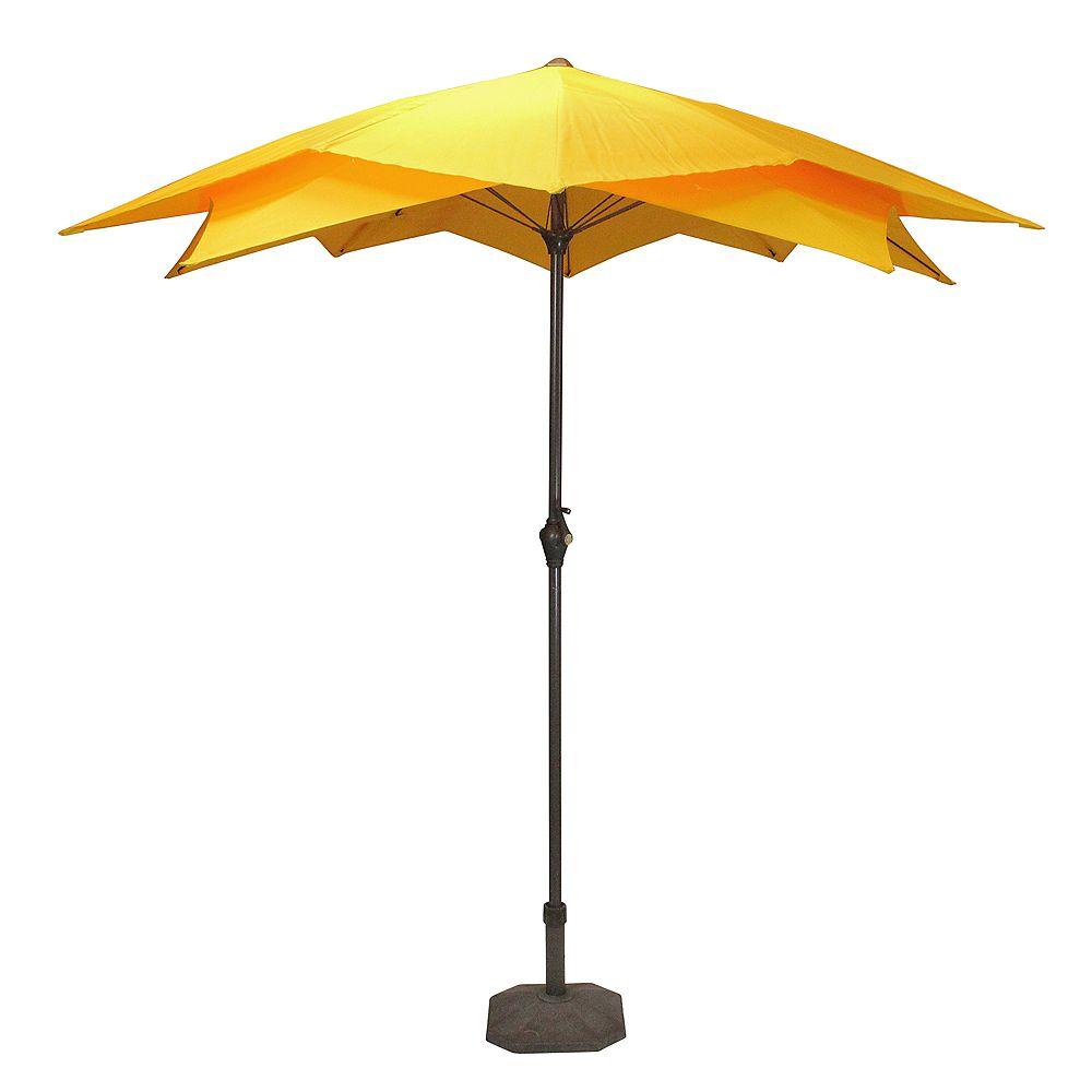 Northlight 8.85ft Outdoor Patio Lotus Umbrella with Hand Crank  Yellow