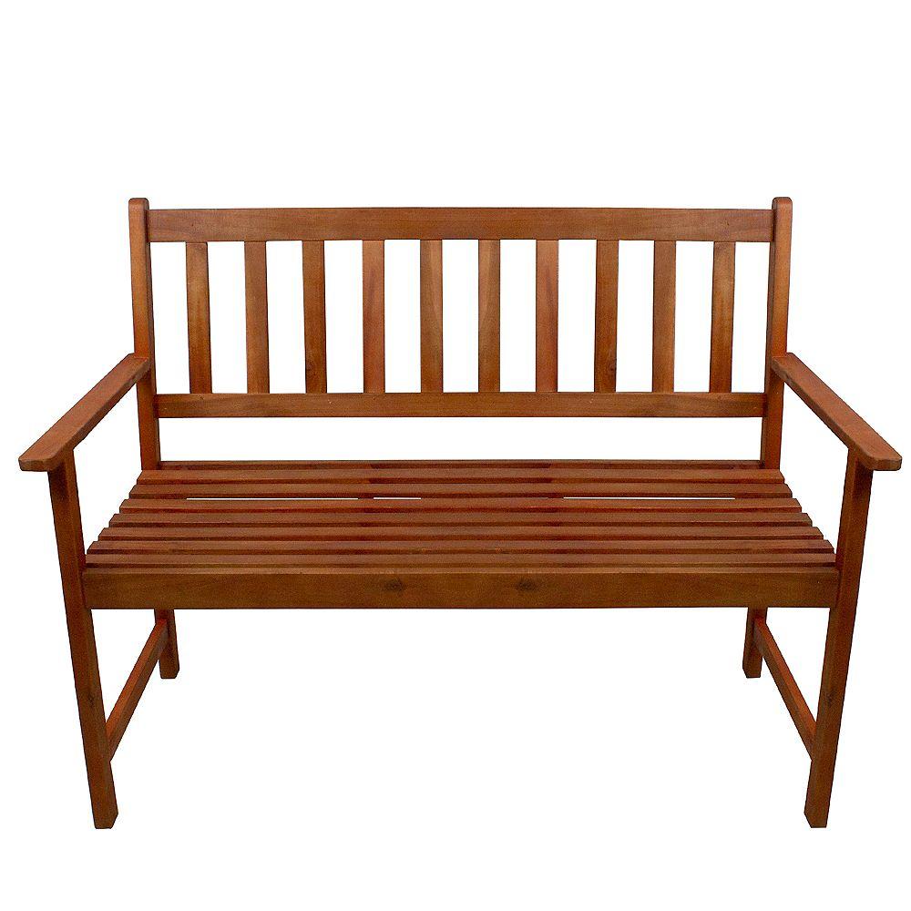 "Northlight 48"" Light Brown Acacia Wood Outdoor Patio Bench"