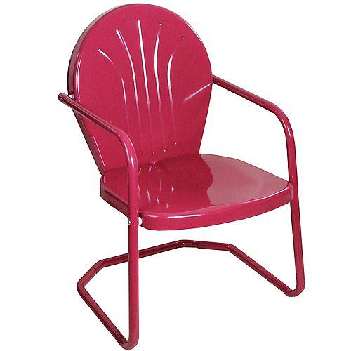 34-Inch Outdoor Retro Tulip Armchair  Pink
