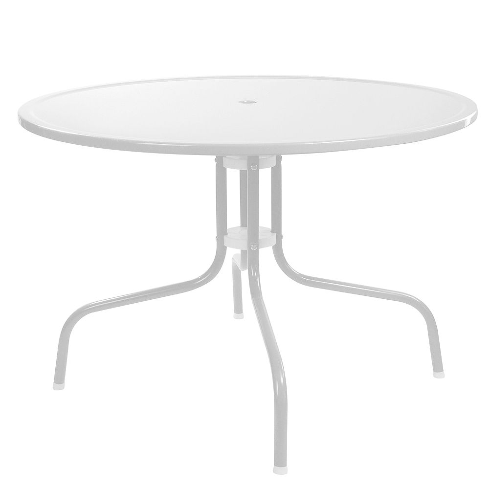 Northlight 39.25-Inch Outdoor Retro Metal Tulip Dining Table  White