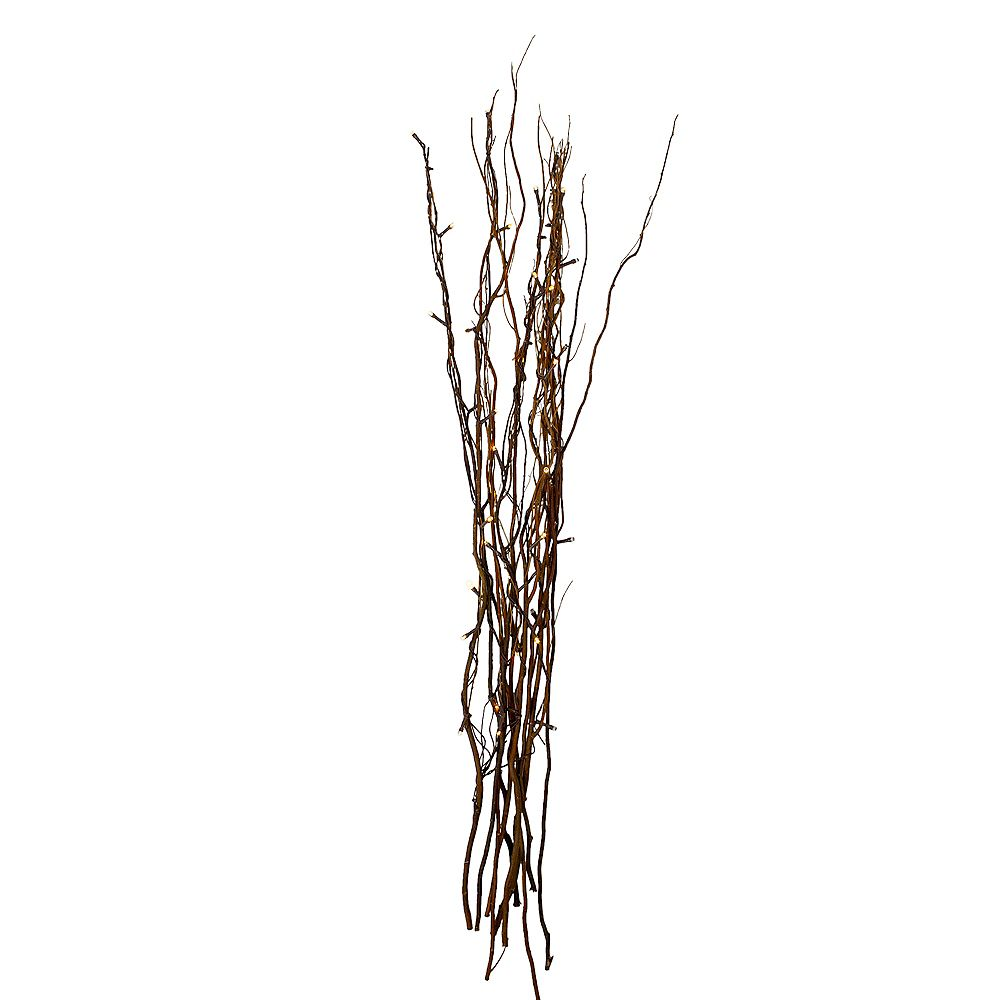 "Northlight 39"" Brown LED Battery Operated Christmas Tree Branch"