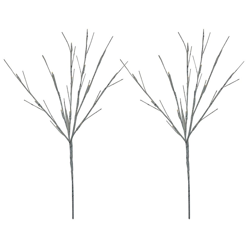 """Northlight Set of 2 LED Battery Operated White Burch Branches 29"""""""
